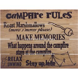 Wood Pallet Art - Campfire Rules