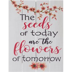 Wood Pallet Art - Flowers of Tomorrow
