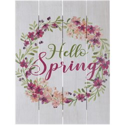 Wood Pallet Art - Hello Spring
