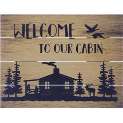 Wood Pallet Art - Welcome Cabin