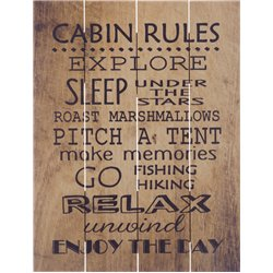 Wood Pallet Art - Cabin Rules