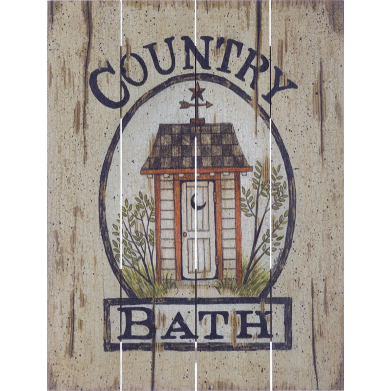 Wood Pallet Art - Country Bath Outhouse