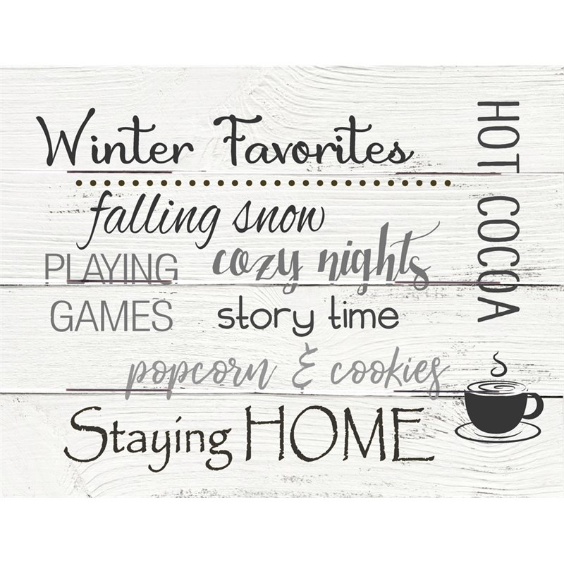 Wood Pallet Art - Winter Favorites