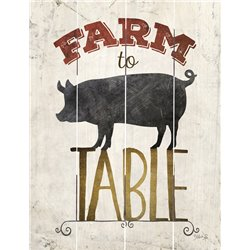 Wood Pallet Art - Farm to Table