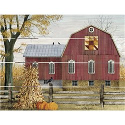 Wood Pallet Art - Autumn Leaf Quilt Block Barn