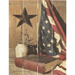 Wood Pallet Art - God and Country