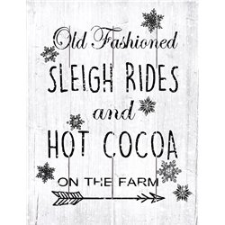 Wood Pallet Art - Sleigh Rides and Cocoa