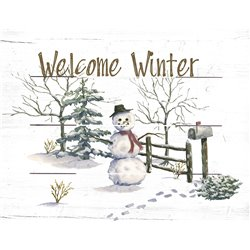 Wood Pallet Art - Welcome Winter