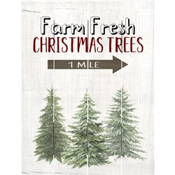 Wood Pallet Art - Farm Fresh Christmas Tree