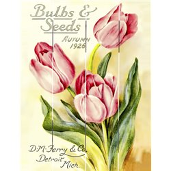 Wood Pallet Art - Bulbs & Seeds Autumn 1926