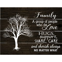Wood Pallet Art - Family-People Who Love