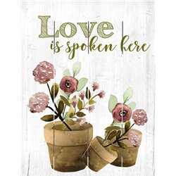 Wood Pallet Art - Love is Spoken
