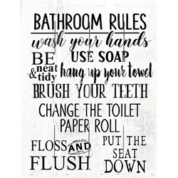 Wood Pallet Art - Bathroom Rules