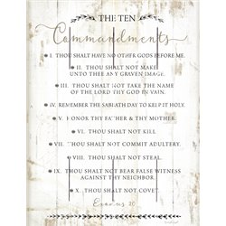 Wood Pallet Art - The Ten Commandments