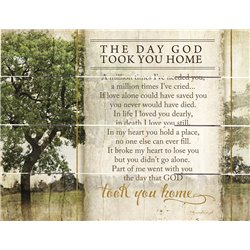 Wood Pallet Art - The Day God Took You Home