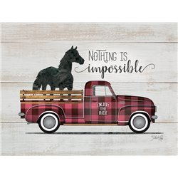 Wood Pallet Art - Nothing is Impossible - Vintage Truck