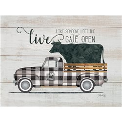 Wood Pallet Art - Live Like - Vintage Truck