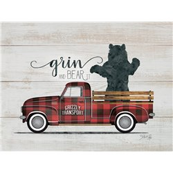 Wood Pallet Art - Grin and Bear it - Vintage Truck