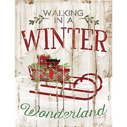 Wood Pallet Art - Winter Wonderland