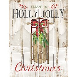 Wood Pallet Art - Holly Jolly