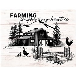 Wood Pallet Art - Farming is Where the Heart Is