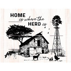 Wood Pallet Art - Home is Where the Herd is