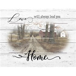 Wood Pallet Art - Love Leads Home