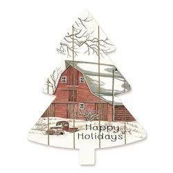 Cut Out Pallet Art - Barn Happy Holidays