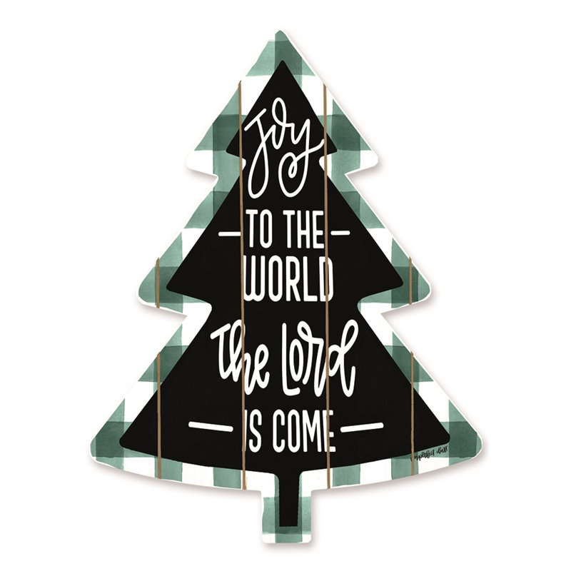 Cut Out Pallet Art - Joy to the World - Buffalo Check