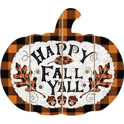 Cut Out Pallet Art - Happy Fall - Buffalo Checkered