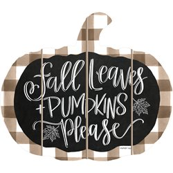 Cut Out Pallet Art - Fall Leaves and Pumpkins Please