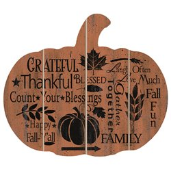 Cut Out Pallet Art - Fall Sentiments Pumpkin