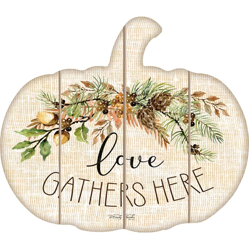 Cut Out Pallet Art - Love Gathers Here