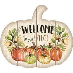 Cut Out Pallet Art - Welcome Pumpkin