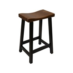 Urban Bar Stool with Maple Base and Elm Seat