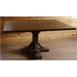 Barnwood Style Timber Peg Pedestal Dining Table