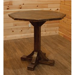 Barnwood Style Timber Peg Octogon Pub Table