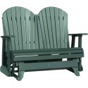 Poly Outdoor 4 Foot Adirondack Porch Glider Bench