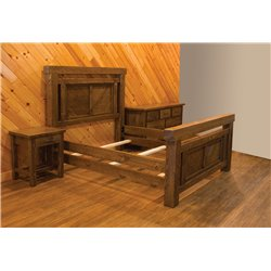 Barnwood Style Timber Peg Panel Bed Set
