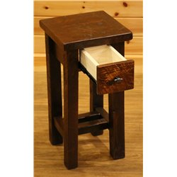 Barnwood Style Timber Peg Small Nightstand/End Table with Drawer