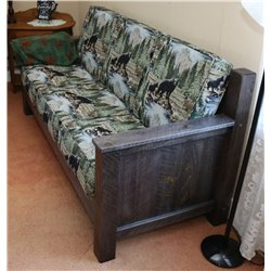Barnwood Style Timber Peg Sofa