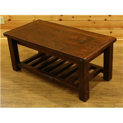 Barnwood Style Timber Peg Coffee Table