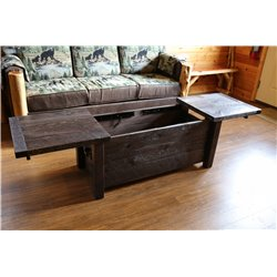 Barnwood Style Timber Peg Coffee Table with Storage