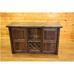 Barnwood Style Timber Peg Free Standing Bar