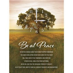 Precious Melodies Clock - Be at Peace with Bless the Lord Chimes