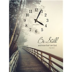 Precious Melodies Clock - Be Still with Bless the Lord Chimes