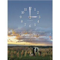 Precious Melodies Clock - Confidence with Bless the Lord Chimes