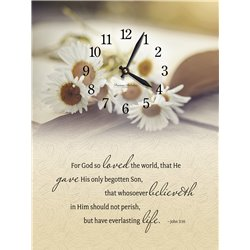 Precious Melodies Clock - John 3:16 with Bless the Lord Chimes