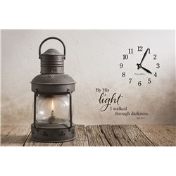 Precious Melodies Clock - Rustic Lantern with It's a Beautiful Day Chimes