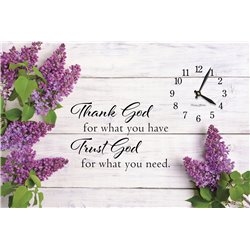 Precious Melodies Clock - Trust God with It's a Beautiful Day Chimes
